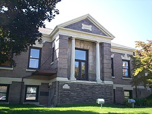 Kent Free Library - Original Carnegie portion of the library, which opened in 1903.