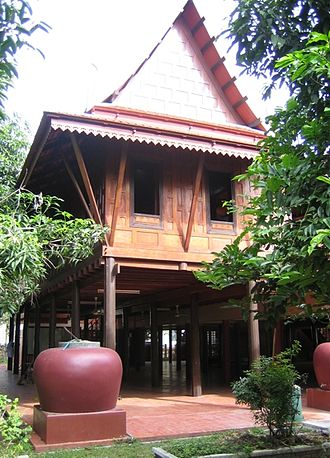 Suphan Buri Province - Khum Khun Chang traditional Thai house