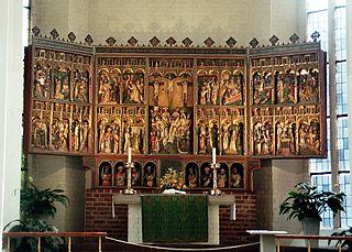 Altar in Nikolaikirche Kiel