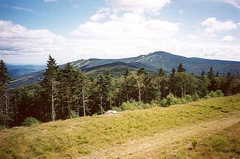 Killington Peak, Vermont, seen from Pico Peak