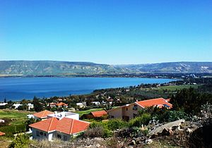 1=Kinneret (moshava) and Sea of Galilee