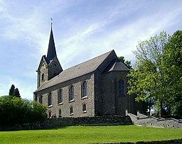 Evangelische Kirche in Kirburg, Westerwaldkreis, Rheinland-Pfalz, Deutschland