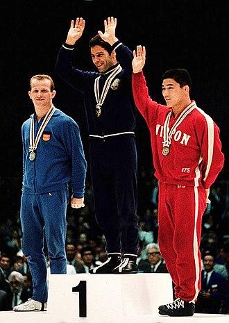 Enyu Valchev - Enyu Valchev (center) at the 1964 Olympics