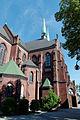 Kościół WNMP, elewacja północna, wejście boczne.jpg