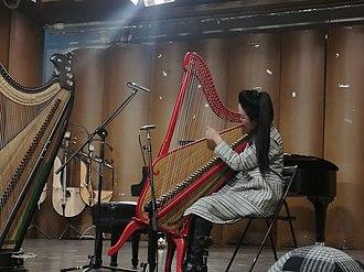 Konghou - Moden Konghou playing on stage