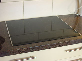 Induction cooking - Top view of an induction cooktop