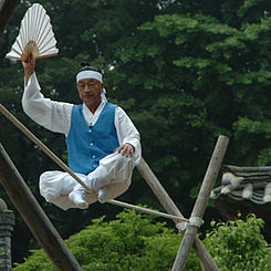 Korean Folk Village-Jultagi-Tightrope walking-01.jpg