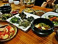 Korean cuisine-Banchan and doenjang jjigae-01.jpg