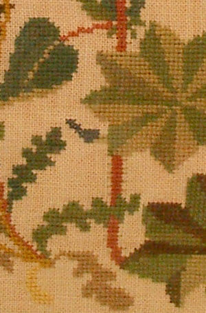 Cross stitches - Detail of cross stitch embroidery from Sweden.