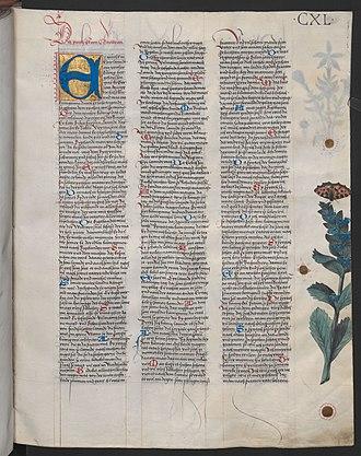 Kudrun - First page of Kudrun. Ambraser Heldenbuch, Austrian National Library Cod. ser. nova 2663 fol. 140t.