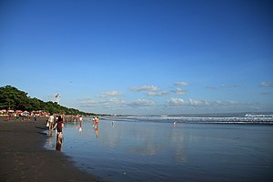 Kuta - Kuta Beach viewed from Seminyak.