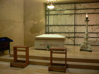 Vibiana - Relics of Saint Vibiana at the Cathedral of Our Lady of the Angels, Los Angeles