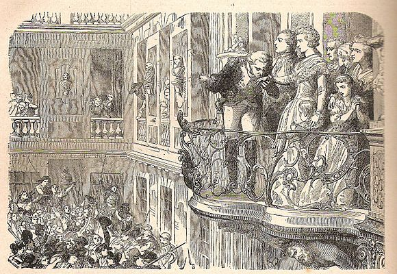 Lafayette at the balcony with Marie Antoinette La Fayette and Marie Antoinette 6th october 1789.jpg