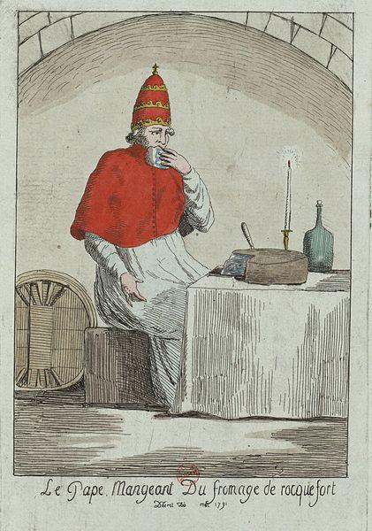 File:La Pape mangeant du fromage de rocquefort (1791).jpg