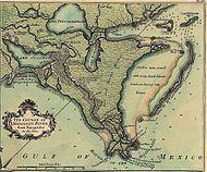 Lake Borgne de la Tour map 1720