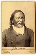 Lakota chief John Grass by George W Scott, 1880s