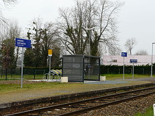 Lamonzie-Saint-Martin station railway station in Lamonzie-Saint-Martin, France
