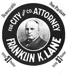 Franklin Knight Lane - 1898 election poster for Lane