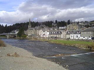 Langholm town in Scotland