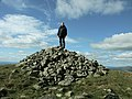 Large cairn at the summit of Cairnsmore of Fleet, Galloway - geograph.org.uk - 1594258.jpg