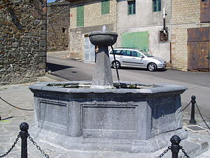 Latera - The Ducal Fountain (Fontana del Ponte), 17th century.