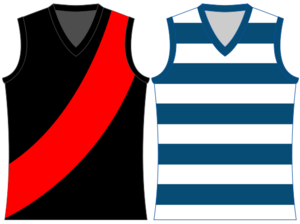 Lauderdale Football Club - Lauderdale's Home and Clash Jumpers as of 2009.