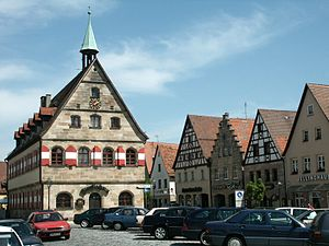 Lauf an der Pegnitz - Old town hall and the market square