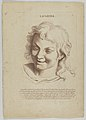 Laughter (from Heads Representing the Various Passions of the Soul; as they are Expressed in the Human Countenance- Drawn by that Great Master Monsieur Le Brun) MET DP854026.jpg