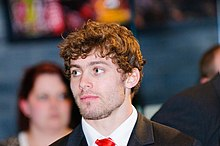 Description de l'image  Leigh Halfpenny. Wales Grand Slam Celebration, Senedd 19 March 2012 Leigh Halfpenny. Dathliadau Camp Lawn Cymru, Senedd 19 Mawrth 2012.jpg.