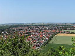 Aussicht vom Seilbahnberg auf Lengede