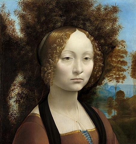 Ginebra de Benci, biografía, pintura, retrato, análisis, descripción; composición, renacimiento, Da Vinci