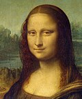 Detail of the Mona Lisa
