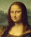 Detail of the Mona Lisa