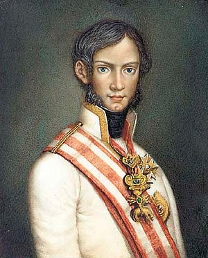 Leopold II, Grand Duke of Tuscany - Portrait of Leopold II as a young man.