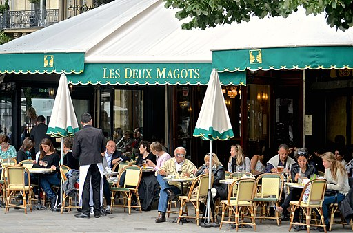 Les Deux Magots, Paris 25 May 2014