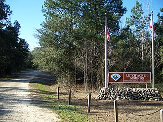 Letchworth-Love Mounds Archaeological State Park - Entrance to the park