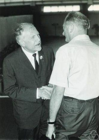 Lev Pontryagin - Lev Semenovich Pontryagin (left)