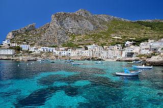 Island in Trapani, Italy