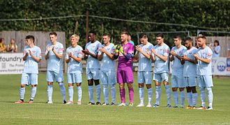 Lewes F.C. - The team before the match against Horsham on 29 August 2016