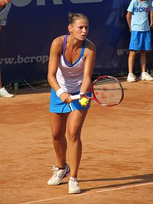 Liana Ungur at the 2011 BCR Open Romania Ladies.jpg