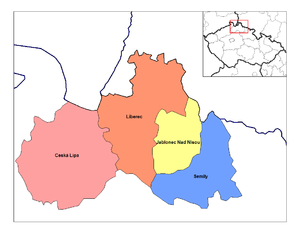 Liberec Region - Districts of Liberec