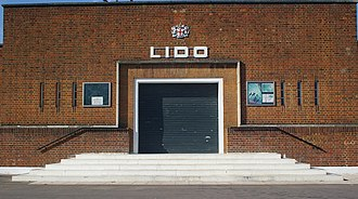 Parliament Hill Lido - Lido frontage in 2007