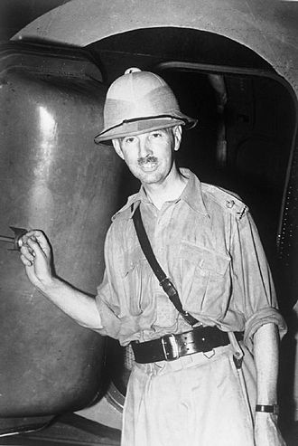 Arthur Percival - Lieutenant-General Percival arriving by aircraft in Singapore in 1941 as the new General Officer Commanding Malaya.