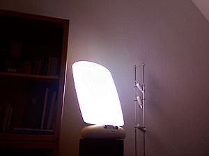 Light Therapy Lamp (in use)