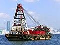 Lighter. Hong Kong Harbour. (16023797191).jpg