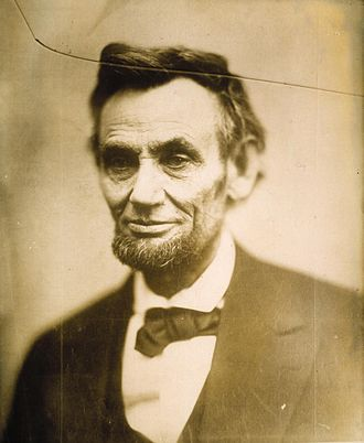 "National Portrait Gallery (United States) - The ""cracked-plate"" portrait of Abraham Lincoln, acquired by the NPG as part of the Alexander Gardner Collection."