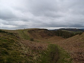 Croy, North Lanarkshire - View of the outline of the Antonine wall at Croy Hill