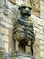 Lion gateway, Warkworth Castle (5480007172).jpg