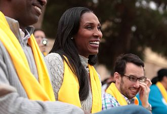Lisa Leslie - Leslie at an event hosted by National School Choice Week in Phoenix, Arizona.