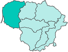 Location of Diocese of Telšiai in Lithuania